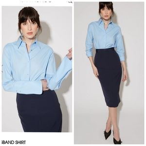 NWT Misha Nonoo husband shirt in light blue